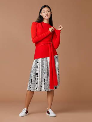 Diane von Furstenberg Devin Wool Wrap Pullover