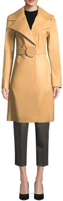 Max Mara Women's Leather Trench Coat