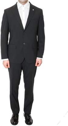 Lubiam Short Drop 4 Grey Wool Suit