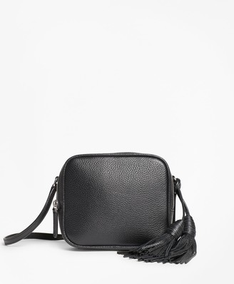Brooks Brothers Tasseled Leather Cross-body Bag