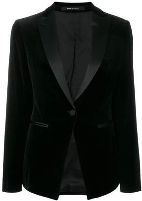 Tagliatore fitted textured blazer