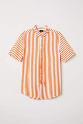 H&M Slim Fit Short-sleeved Shirt