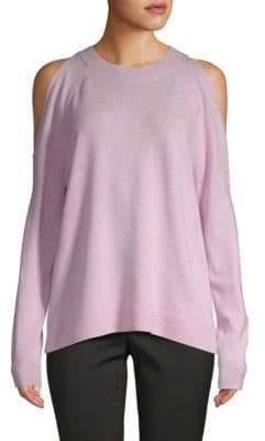 Saks Fifth Avenue Cold-Shoulder Cashmere Sweater