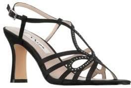 Nina Amabel Rhinestone Strappy Sandals