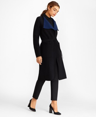 Brooks Brothers Merino Wool Wrap Coat