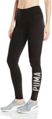 Puma Women's Athletic Leggings W, Gray Heather- Spiced Coral, M