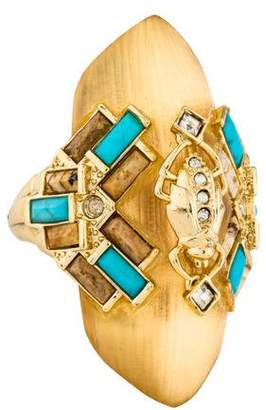 Alexis Bittar Phoenix Deco Beetle Shield Ring