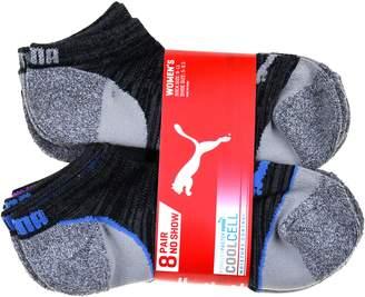Puma Ladies 8-pair No Show Socks for Women, Gray/Blue/Purple
