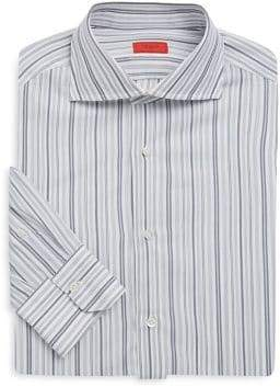 Isaia Regular-Fit Mixed-Stripe Dress Shirt