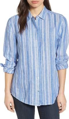 Tommy Bahama Santiago Stripe Linen Blend Shirt