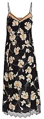 No.21 No. 21 No. 21 Women's Silk Floral Midi Slip Dress