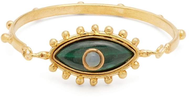 SYLVIA TOLEDANO Evil Eye malachite and gold-plated cuff