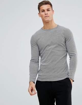 Selected Long Sleeve Top With Stripes