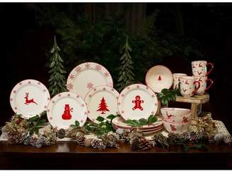 The Holiday Aisle Winterfest 16 Piece Earthenware Dinnerware Set, Service for 4