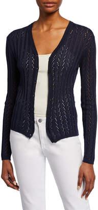 M Missoni Button-Front Rib-Knit Cardigan