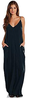 Elan International Inc Maxi Spaghetti Straps Loose Dress