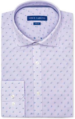 Vince Camuto Men's Slim-Fit Comfort Stretch Amethyst Dobby Dress Shirt