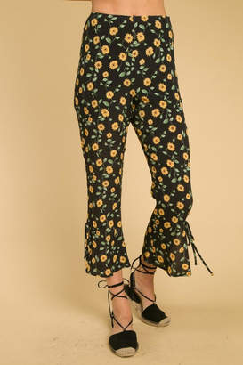 Honey Punch Sunflower Summer Pants