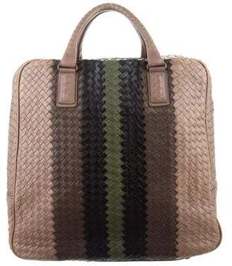 Bottega Veneta Intrecciato Leather Weekender