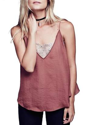 Free People Lace Inset Plunging Camisole