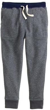 J.Crew Boys' slim slouchy sweatpant in contrast waistband