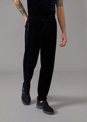 Giorgio Armani Drawstring Trousers In Velvet