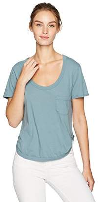 LAmade Women's Short Sleeve Round Hem Pocket Tee