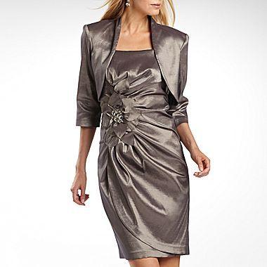 Roland Mouret R&M Richards Taffeta Jacket Dress with Tulip Skirt