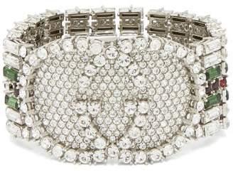 Gucci Crystal Embellished Tennis Bracelet - Womens - Green