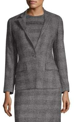 Agnona Alpaca and Wool-Blend Fitted Jacket