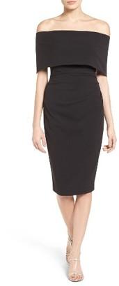 Women's Vince Camuto Popover Midi Dress $168 thestylecure.com