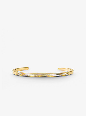Michael Kors Precious Metal-Plated Sterling Silver Pave Nesting Cuff