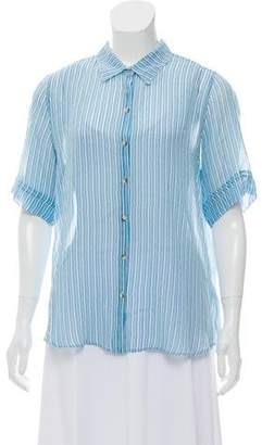 MiH Jeans Silk Button-Up Top w/ Tags