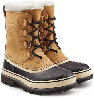 Sorel Caribou Suede and Rubber Short Boots