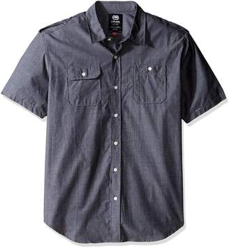 Ecko Unlimited UNLTD Men's Solid City Short Sleeve Woven