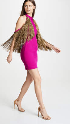 Sandra Mansour Fringe Mini Dress