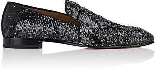Christian Louboutin Men's Dandelion Sequined Slippers