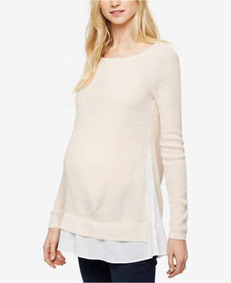 Design History Maternity Layered-Look Sweater $88 thestylecure.com