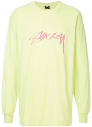 Stussy logo print sweater