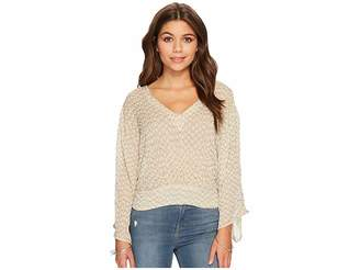 Lucky Brand Embellished Top Women's Clothing