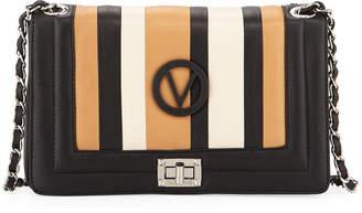 Mario Valentino Valentino By Alice Striped Leather Shoulder Bag