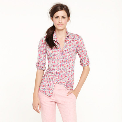 J.Crew Liberty perfect shirt in D'Anjo