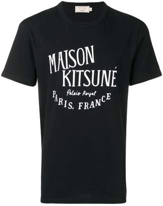 MAISON KITSUNÉ black logo T-shirt