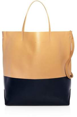Alice.D Large Color-Block Leather Tote Bag