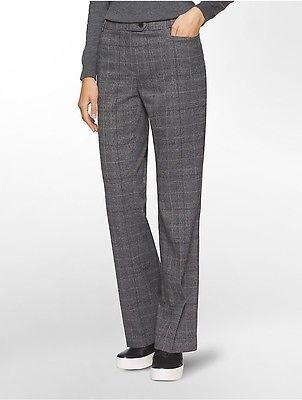 Calvin KleinCalvin Klein Womens Straight Fit Glen Plaid Suit Pants
