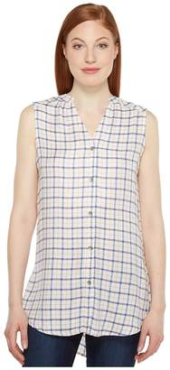 Jag Jeans Aspen Sleeveless Top in Rayon Plaid Women's Sleeveless