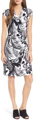 Tommy Bahama Let's Be Fronds Faux Wrap Dress