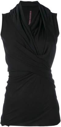 Rick Owens Lilies draped neck tank top