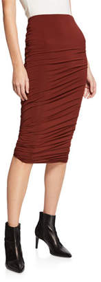 Alexander Wang Twisted Crepe Jersey Midi Skirt