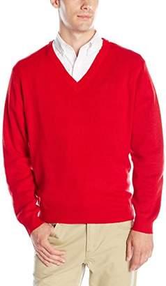Classroom Uniforms Classroom Men's Adult Unisex Long Sleeve V-Neck Sweater